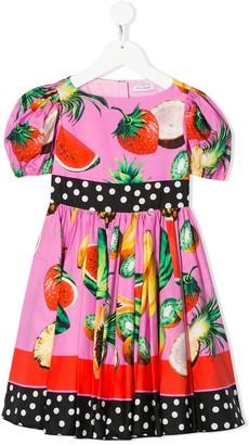 Dolce & Gabbana Tropical Fruit Print Dress