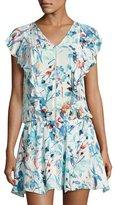 Parker Lana Drop-Waist Dress, White Pattern