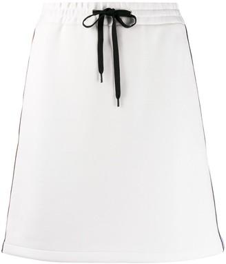 Miu Miu side stripe track skirt