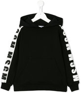 MSGM logo stripe hoody - kids - Cotton - 4 yrs