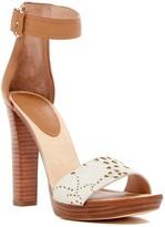 Joie Doris Genuine Calf Hair Platform Ankle Strap Sandal