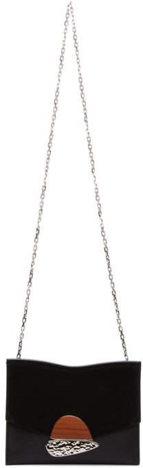 Proenza Schouler Black Small Curl Chain Clutch