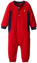 Ralph Lauren Cotton Poly Waffle Henley One-Piece Coveralls Boy's Overalls One Piece