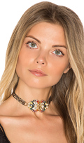 Anton Heunis Crystal Cluster Choker in Brown.