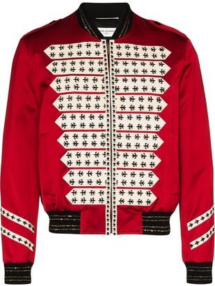 Saint Laurent Officer zip-front bomber jacket