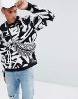Asos X Mtv Mono Graffiti Pattern Jumper