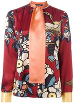 DSQUARED2 'Cherry Blossom' collarless print shirt