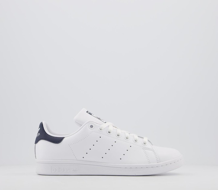 adidas Stan Smith Trainers Core White Dark Blue