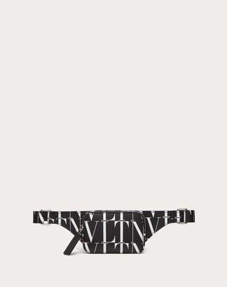 Valentino Garavani Uomo Vltn Times Mini Leather Belt Bag Man Black/white 100% Pelle Bovina - Bos Taurus OneSize