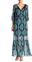 ECI Cold Shoulder Lurex Maxi Dress