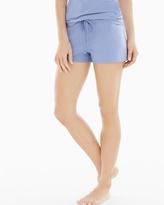 Soma Intimates Essential Cotton Blend Pajama Shorts with Trim Lavender Luster