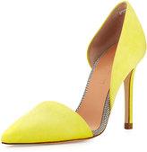 L.A.M.B. Gaspar d'Orsay Suede Pump, Yellow