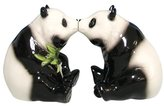 Westland Giftware- Mwah Magnetic Pandas Salt And Pepper Shaker Set, 2-3/4-Inch