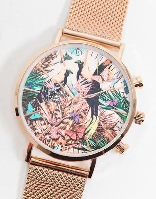 Reclaimed Vintage inspired printed dial watch