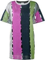 M Missoni cut-out detail short sleeve dress - women - Cotton/Polyester/Viscose/Metallic Fibre - S