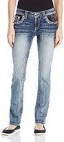 Miss Me Women's Roadside Attraction Mid-Rise Skinny Jeans