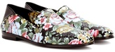 Alexander McQueen Floral-printed leather loafers