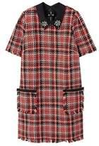 Violeta BY MANGO Check tweed dress