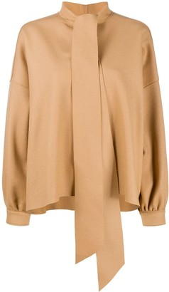 Jejia Pussy Bow Wool Blouse