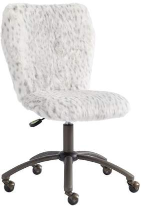 Pottery Barn Teen Gray Leopard Airgo Desk Chair, Armless