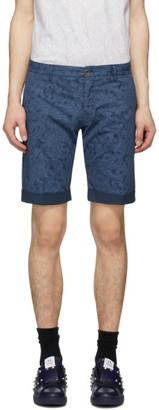 Etro Blue Paisley Bermuda Shorts
