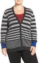 Sejour Wool & Cashmere V-Neck Cardigan (Plus Size)