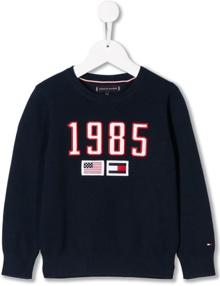 Tommy Hilfiger Junior Embroidered Flag Jumper