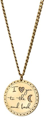Zoë Chicco 14K Yellow Gold & Diamond Engraved Mantra Large Disc Pendant Necklace