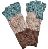 San Diego Hat Company Women's Knit Patchwork Fingerless Glove KNG3459
