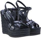 Saint Laurent Wedge Tribute Sandals