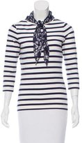 Carolina Herrera Long Sleeve Striped Top