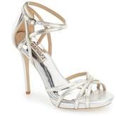 Badgley Mischka Women's 'Leon Ii' Metallic Ankle Strap Sandal