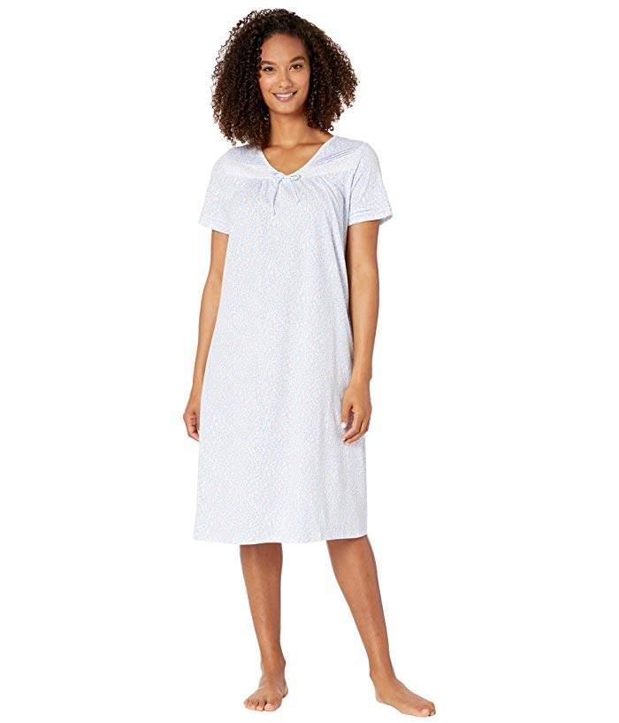 Carole Hochman Cotton Jersey Short Sleeve Waltz Gown