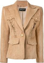 Balmain lace-up detailed blazer