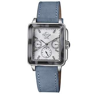 GV2 Women's Bari Tortoise Stainless Steel Swiss Quartz Watch with Suede Strap