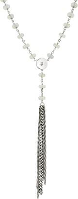 Sheryl Lowe Moonstone & Diamond Tassel Y-Necklace