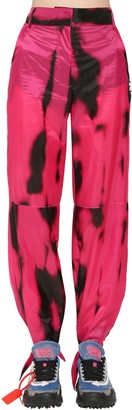 Off-White Tied Ankles Tie Dyed Nylon Pants