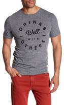 Kid Dangerous Drinks Well With Others Graphic Print Crew Neck Tee
