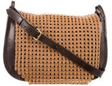 Tory Burch Leather Woven Mesh Messenger Bag