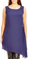 City Chic Plus Size Women's Sleeveless Crepe Side Tie Tunic