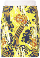 Roberto Cavalli Corded Lace-Trimmed Cotton-Blend Mini Skirt