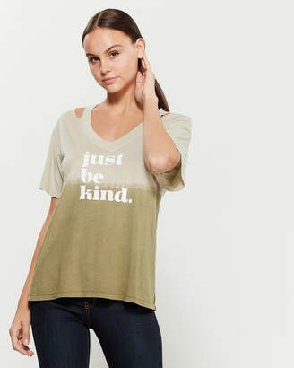 Knit Riot Just Be Kind V-Neck Tee