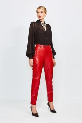 Karen Millen Leather Cargo Trouser