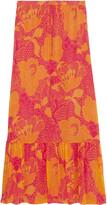 Diane von Furstenberg Camila printed silk-chiffon maxi skirt
