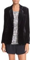 Joie Women's Mehira Velvet One-Button Blazer