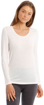 S.O.H.O New York Wool & Bamboo Thermal Long-Sleeve Top in White