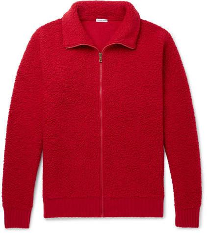 Tomas Maier Snuggler Wool-Fleece Zip-Up Sweater