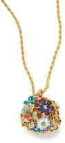 Kenneth Jay Lane Floral Ball Pendant Necklace