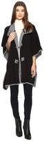 Christin Michaels Armelle Poncho with Buttons