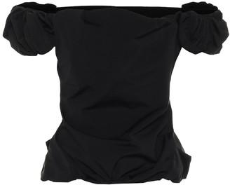 Maison Margiela Off-shoulder ruched top